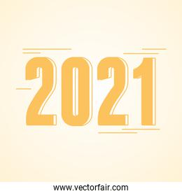 2021 new year, numbers in minimalism style