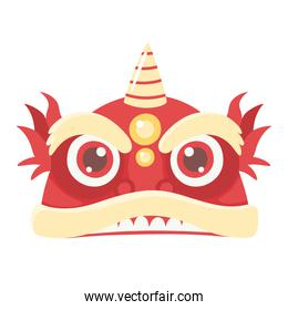 chinese dragon cartoon character icon