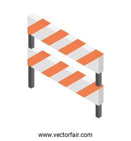 construction barricade protection isometric icon
