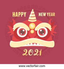 happy new year 2021 chinese, greeting card traditional celebration