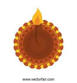 bhai dooj concept, decorative candle icon