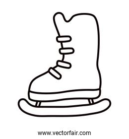 ice skate icon, line style