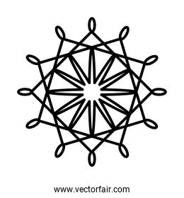 snowflake of winter, line style