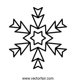 icon of abstract snowflake, line style design