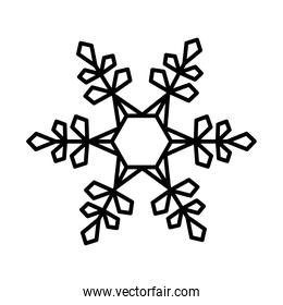 beautiful snowflake icon, line style