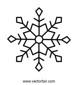 cute snowflake icon, line style