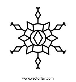 icon of winter snowflake, line style