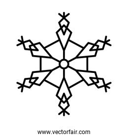 icon of abstract snowflake, line style