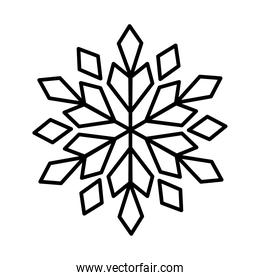 decorative beautiful snowflake icon, line style