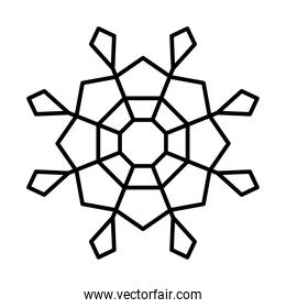 abstract snowflake, line style design
