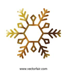 winter snowflake icon over white background, gradient style