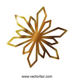 floral and abstract snowflake icon, gradient style