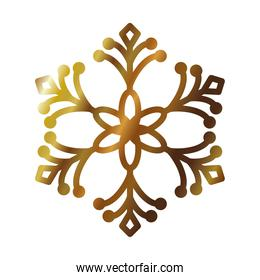 floral snowflake icon, gradient style