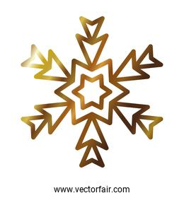 icon of abstract snowflake, gradient style design