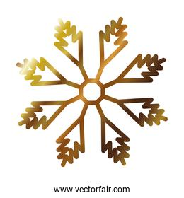 snowflake icon over white background, gradient style