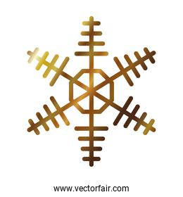 snowflake abstract design icon, gradient style
