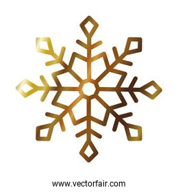 cute snowflake icon, gradient style