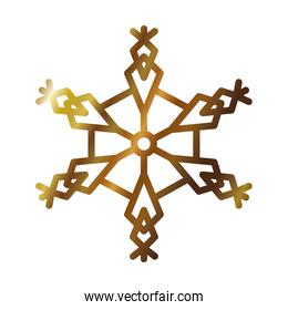 icon of abstract snowflake, gradient style