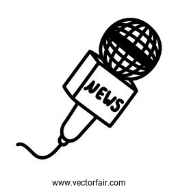 news microphone design, silhouette style