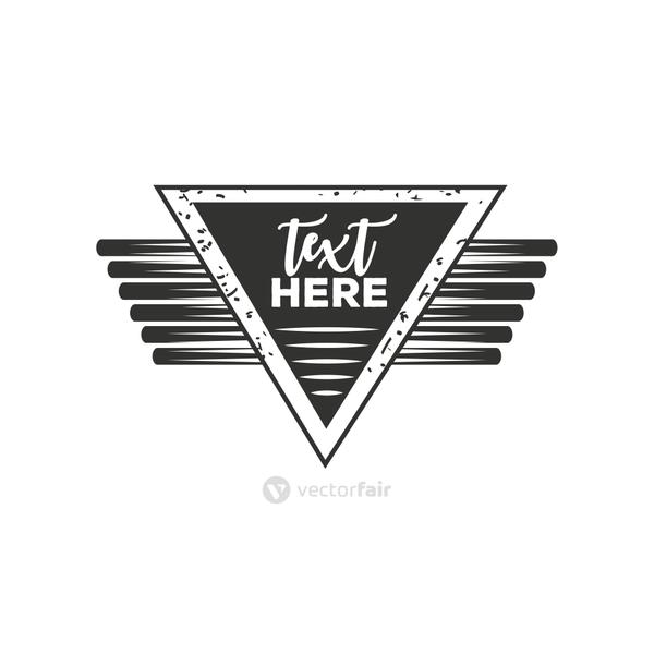 geometric shaped label vintage insignia or logotype brand