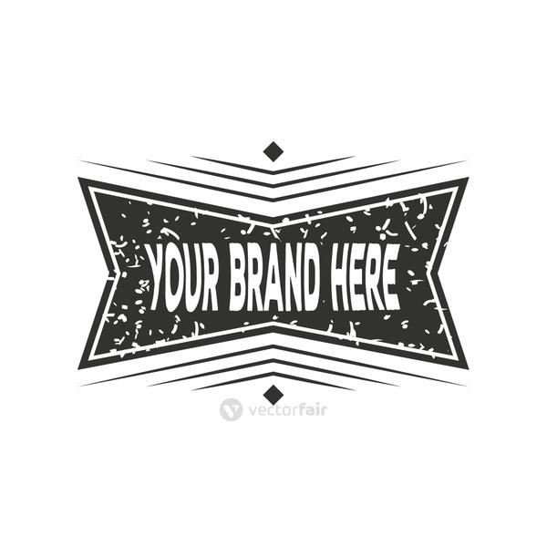 business brand design, vintage insignia or logotype