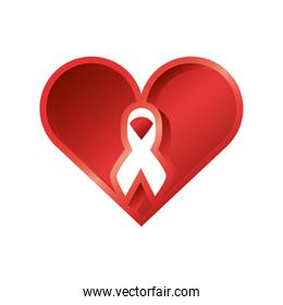 world aids day, heart with awareness ribbon