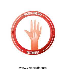 world aids day, hands together banner campaign
