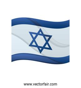 official flag of Israel national symbol flat icon