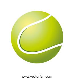 tennis ball sport equiment detailed design icon