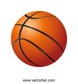 basketball ball sport equiment detailed design icon