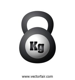 kettlebell fitness and sport equiment detailed design icon