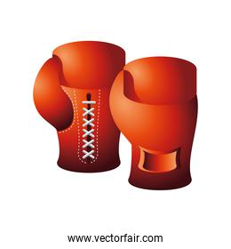 boxing gloves sport equiment detailed design icon