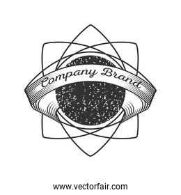 business corporate vintage insignia or logotype brand