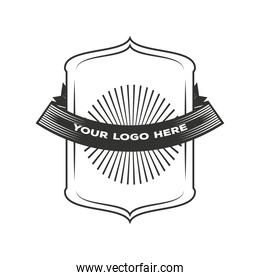identity template corporate vintage insignia or logotype brand