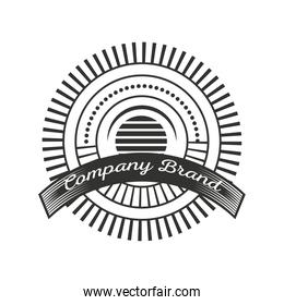 company brand template, vintage insignia or logotype