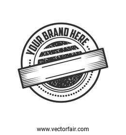 stamp layout style, vintage insignia or logotype brand