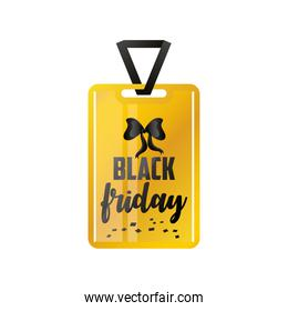 black friday, tag with hand lettering