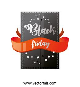 black friday, sticker and ribbon discount season template