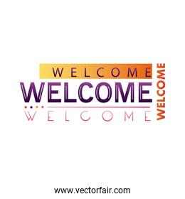 welcome label letterings colors frame