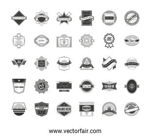 vintage logotypes brand icons set, business signs, identity, labels, badges