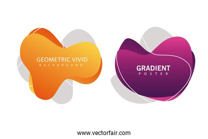 geometric vivid and gradient backgrounds