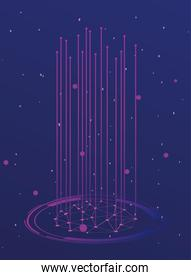 futuristic background, molecules technology with polygonal shapes and lines