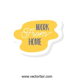 work from home lettering campaign