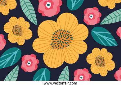 pattern of flowers garden background