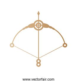 arrow and bow gold vector design