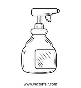laundry cleaning spray bottle line style icon