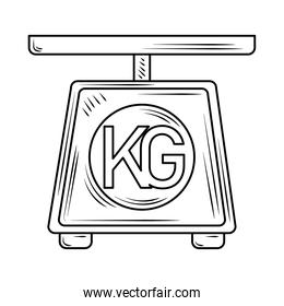 laundry scale weight appliance line style icon