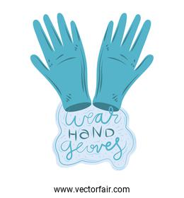 new normal, wear hands gloves protection, after coronavirus covid 19