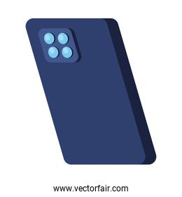 back smartphone device technology isolated icon