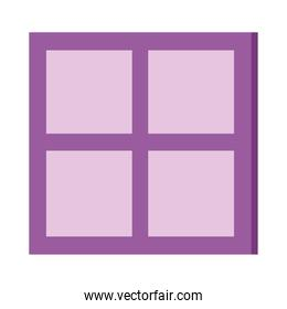 window house view isolated icon